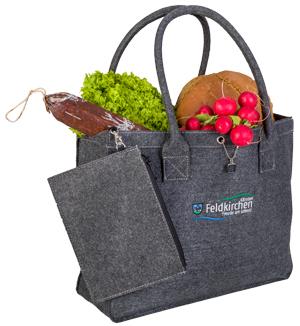 Bild Einkaufstasche Feldkirchen mit Wochenmarkt Produkte